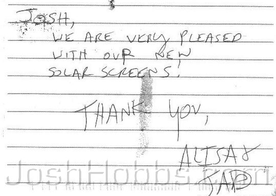 Austin TX Solar Screens Feedback 160
